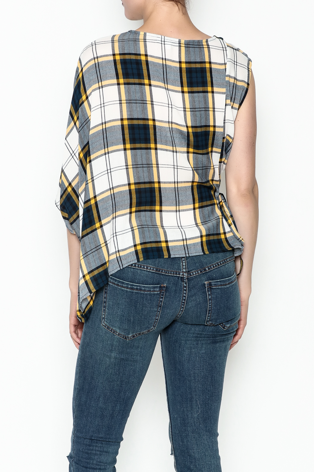 Current Air Plaid Blouse - Back Cropped Image