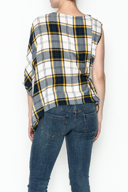 Current Air Plaid Blouse - Back cropped