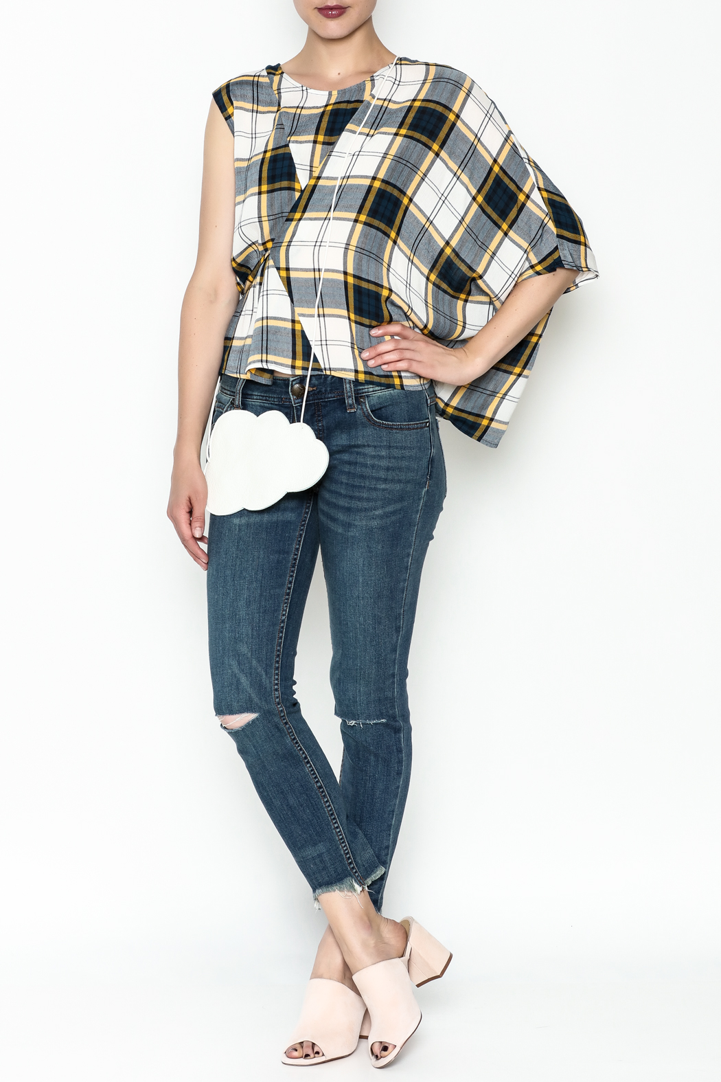 Current Air Plaid Blouse - Side Cropped Image