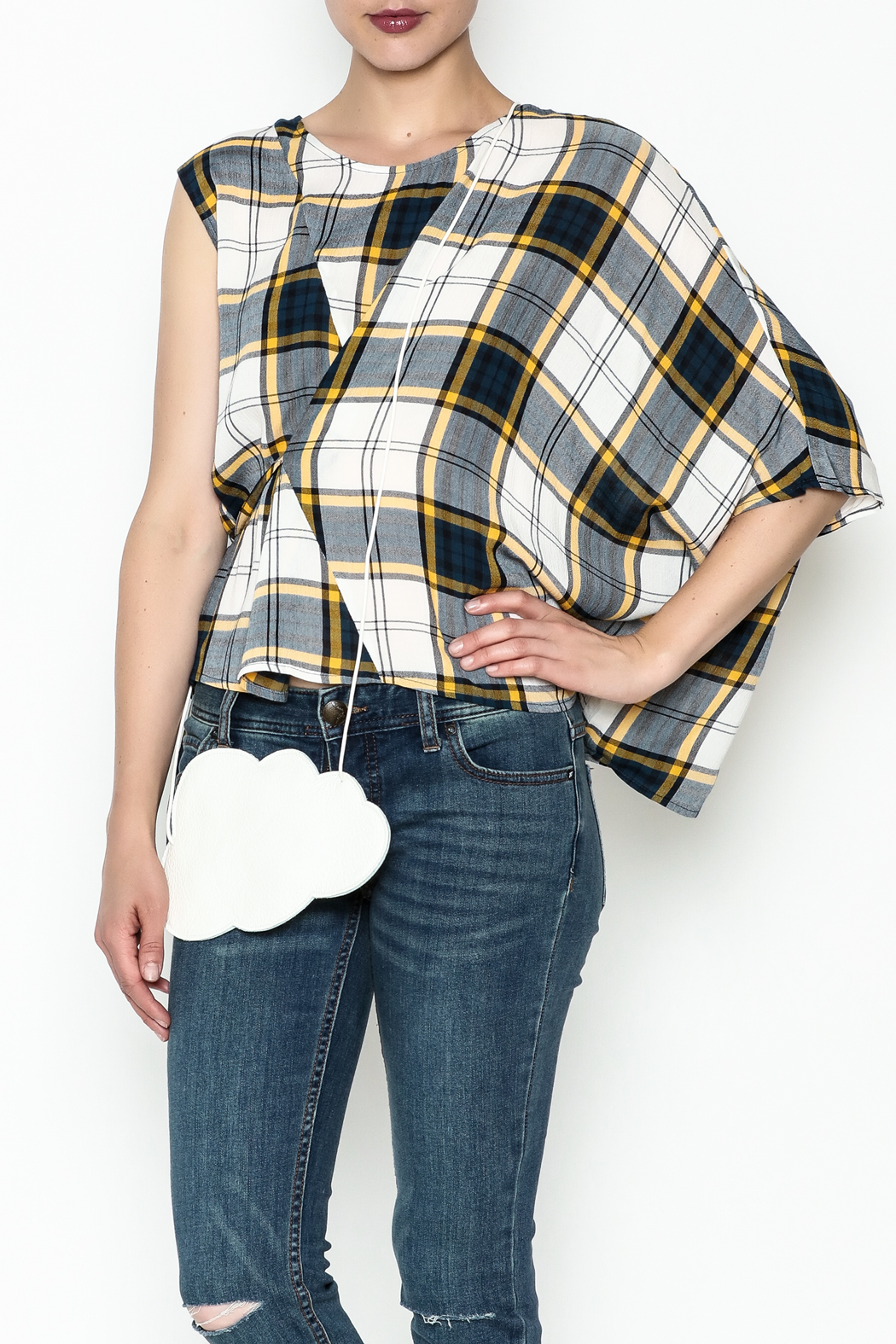 Current Air Plaid Blouse - Main Image