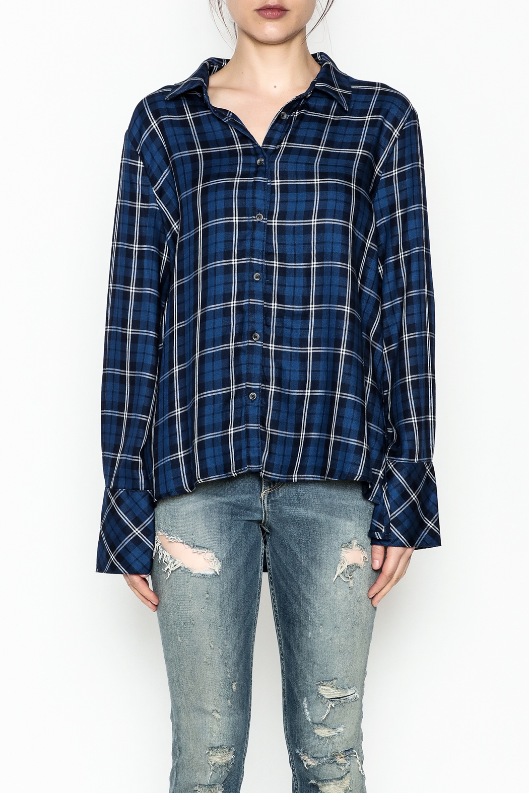 Current Air Plaid Button Down Shirt - Front Full Image