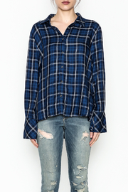 Current Air Plaid Button Down Shirt - Front full body