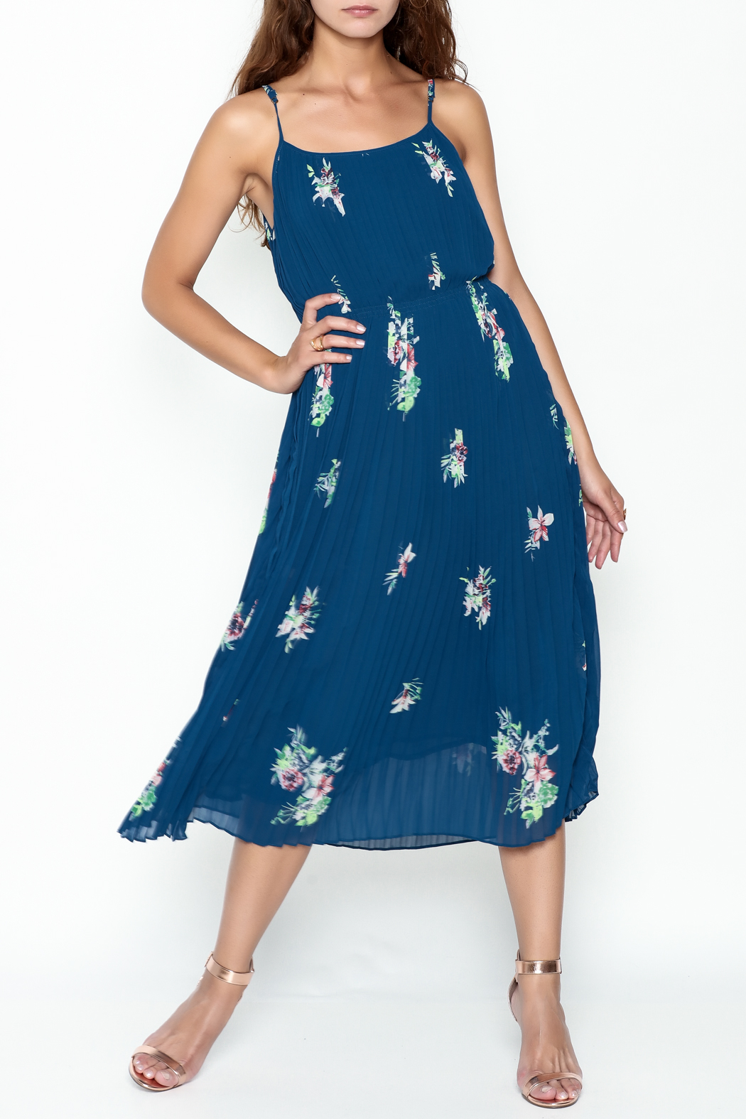 Current Air Pleated Cami Dress - Main Image