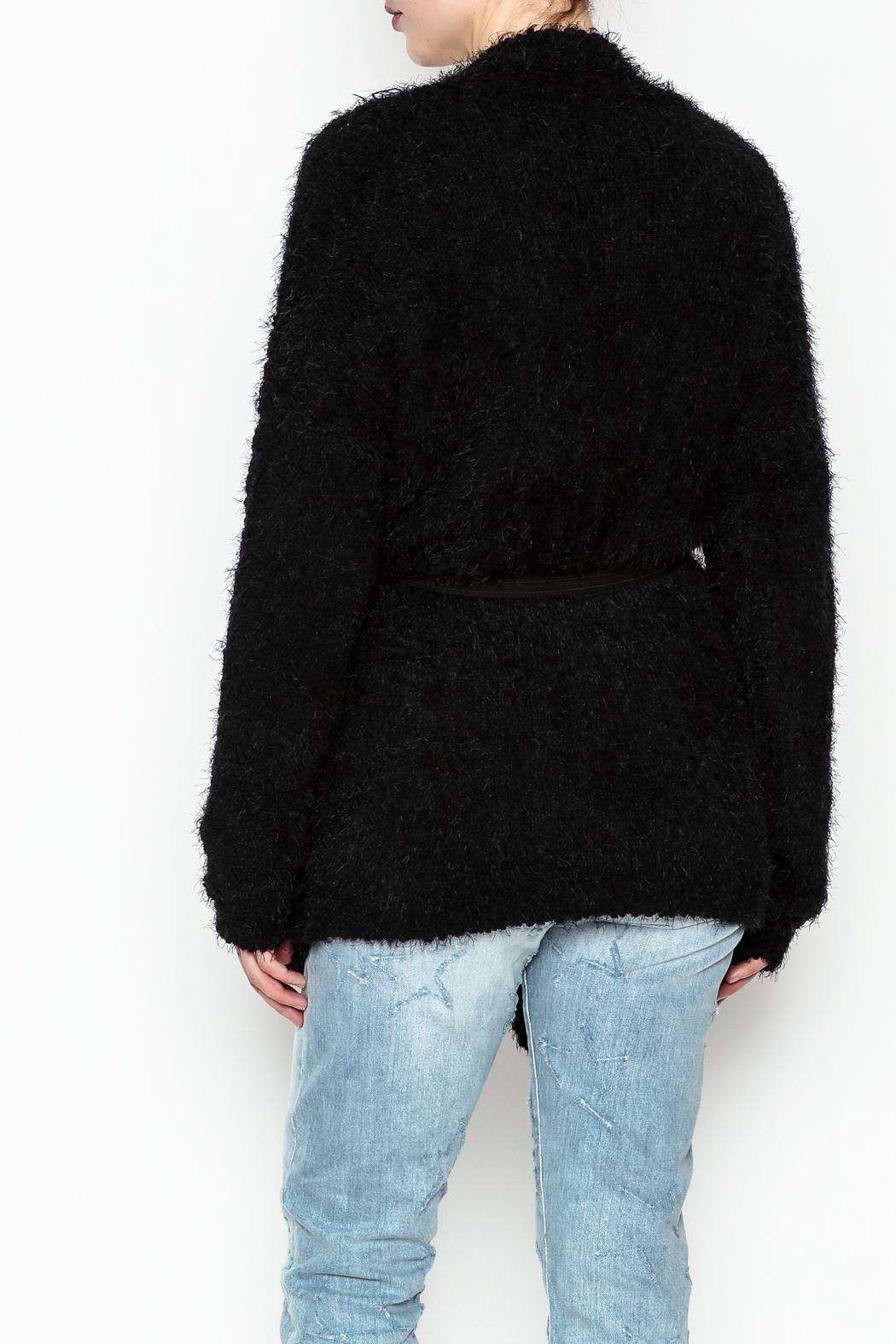 Current Air Sara Furry Cardi - Back Cropped Image