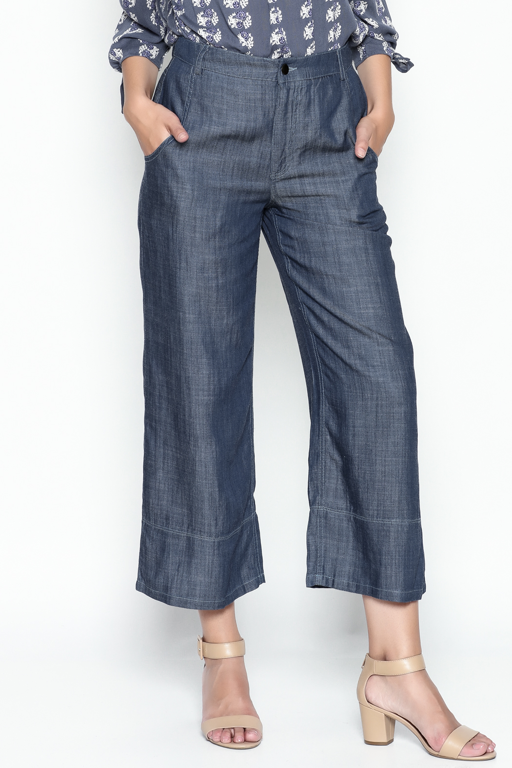 Current Air Tencel Culotte Pants - Main Image