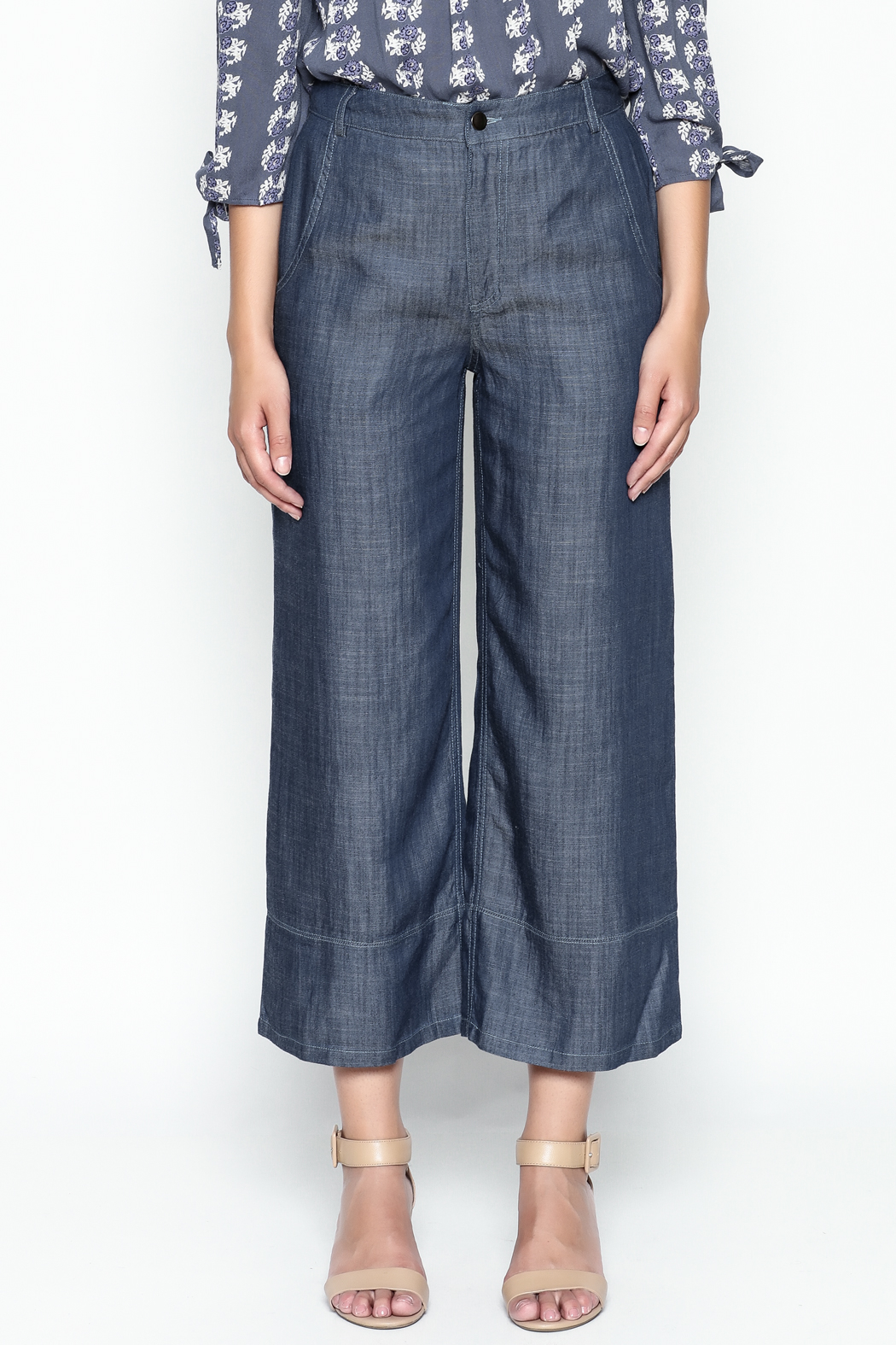 Current Air Tencel Culotte Pants - Front Full Image