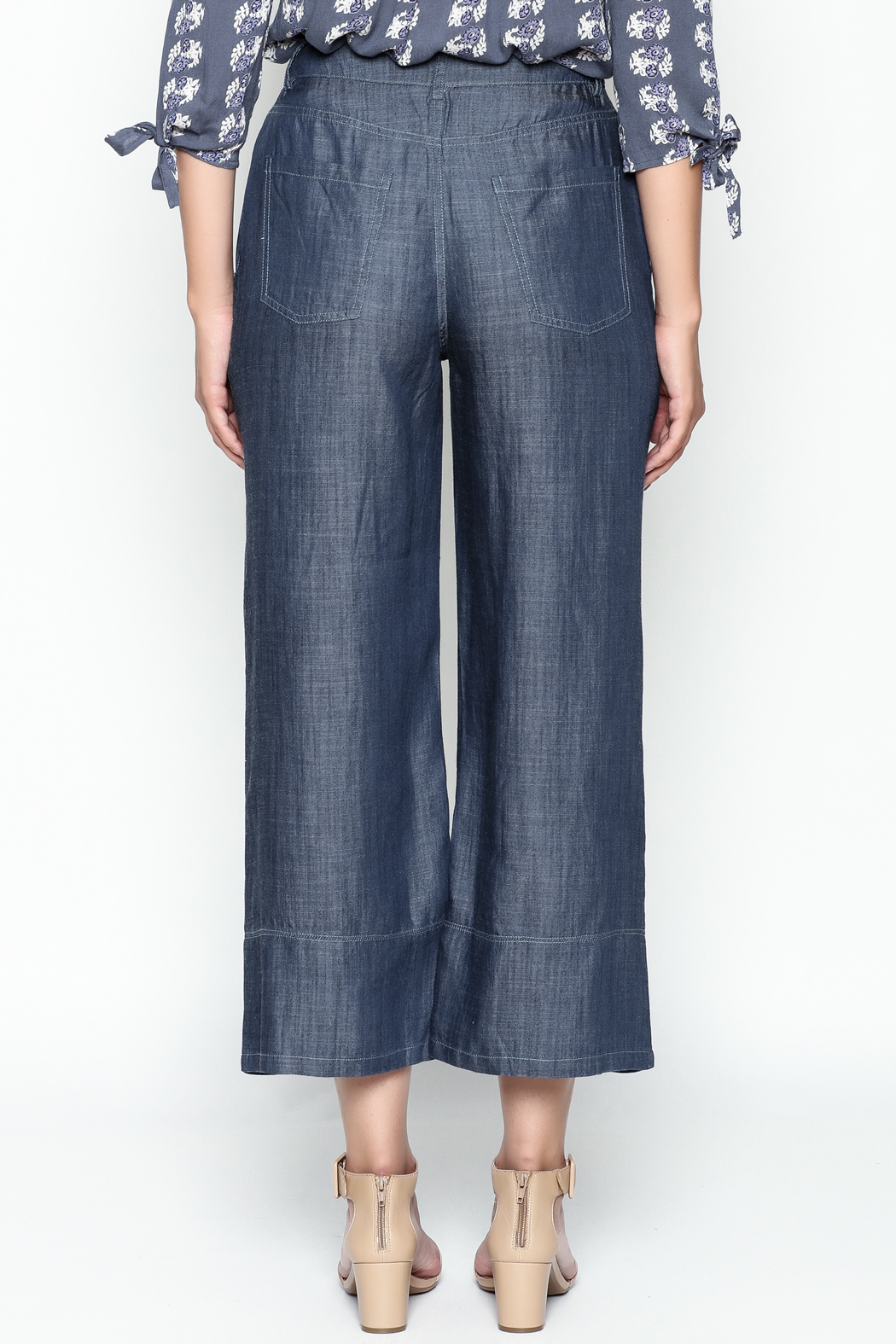 Current Air Tencel Culotte Pants - Back Cropped Image