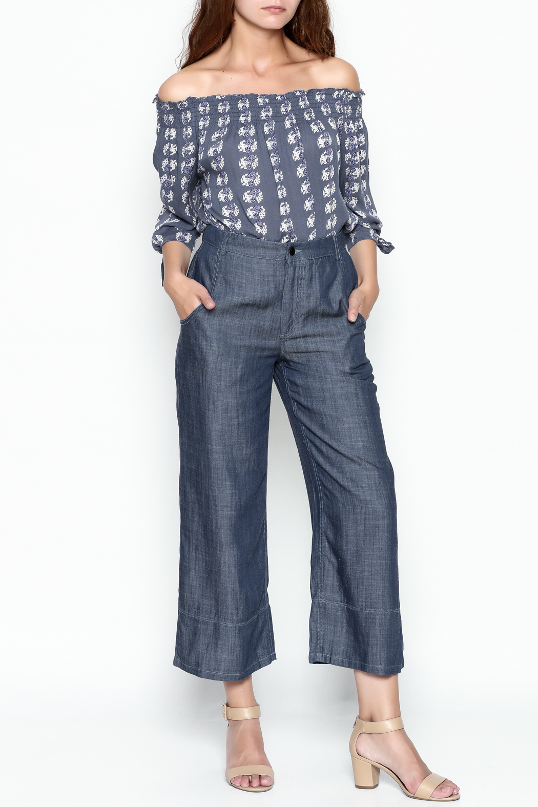 Current Air Tencel Culotte Pants - Side Cropped Image