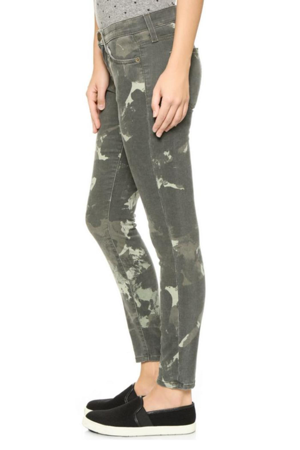 Current/Elliott Camo Stiletto Jeans - Side Cropped Image
