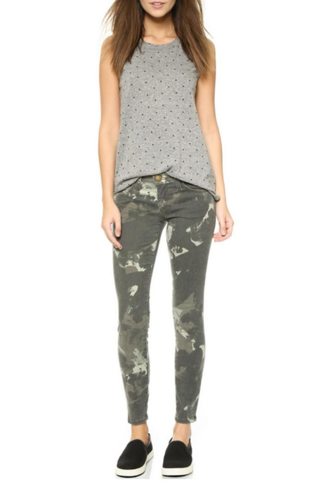 Current/Elliott Camo Stiletto Jeans - Back Cropped Image