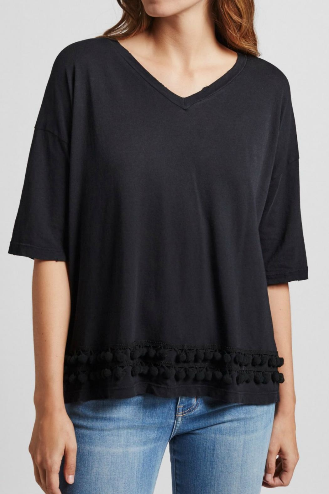 Current Elliott Pom Pom Tee Top - Side Cropped Image