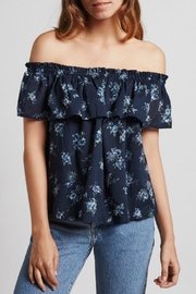 Current Elliott Ruffle Top Tossed Floral - Product Mini Image