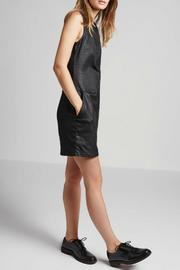 Current Elliott Coated Denim Shift Dress - Front full body