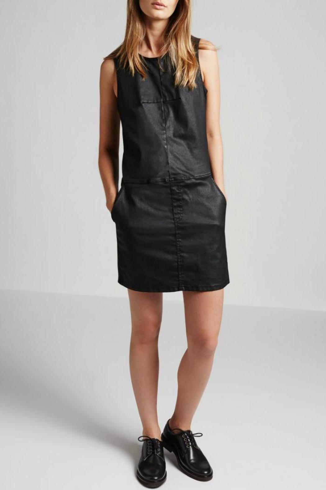 Current Elliott Coated Denim Shift Dress - Front Cropped Image