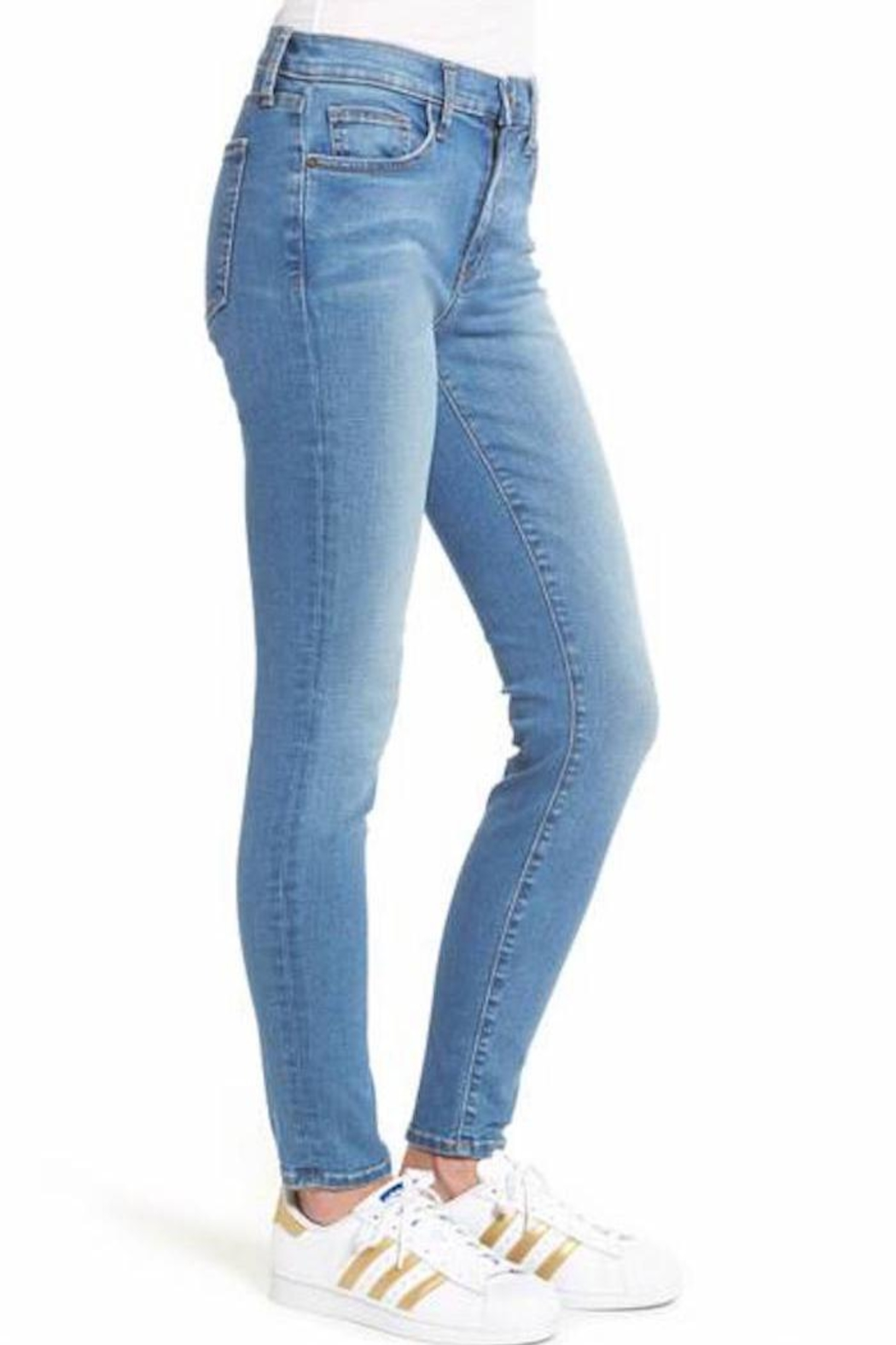 Current Elliott Skinny Jeans - Front Full Image