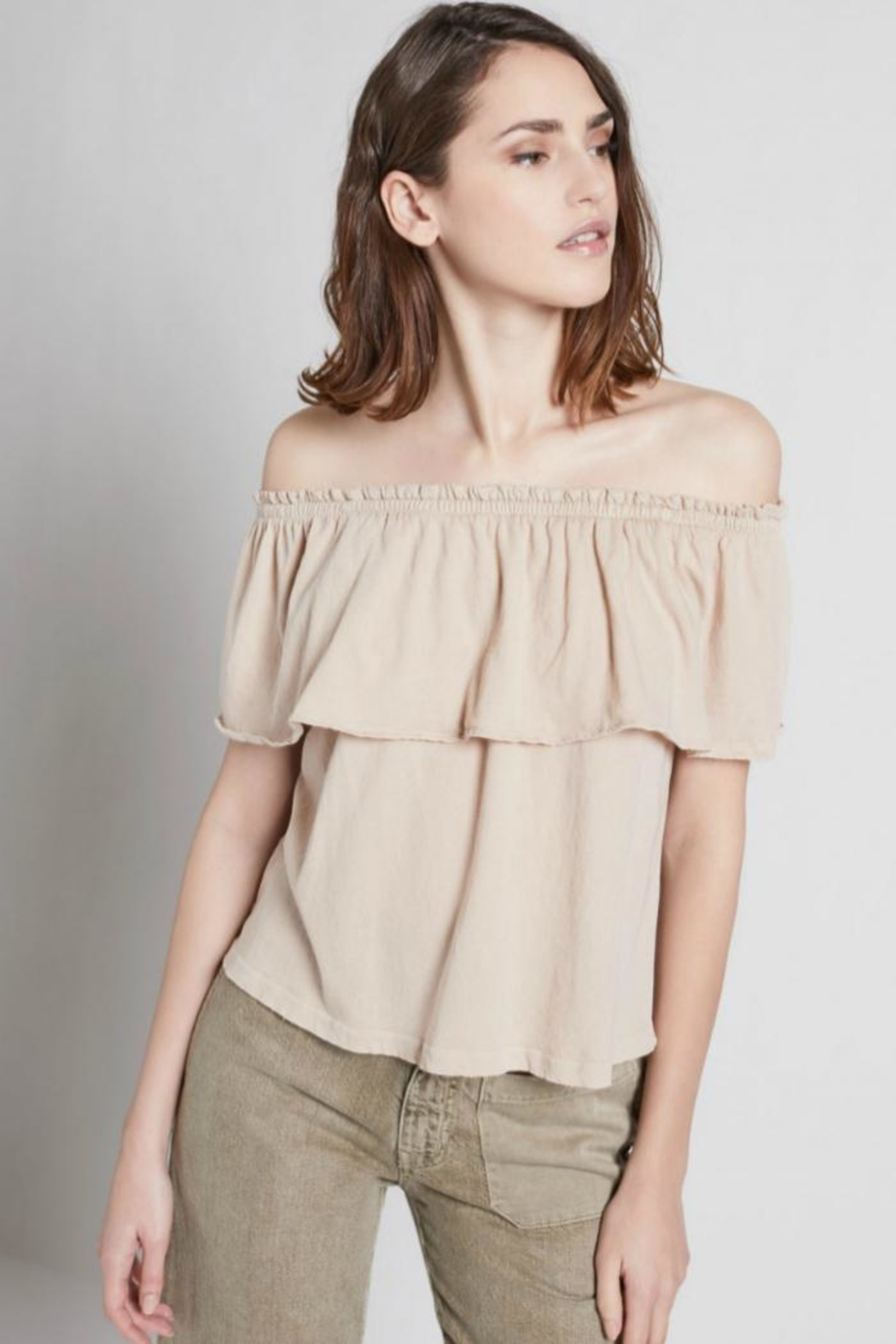 Current Elliott The Ruffle Top - Side Cropped Image