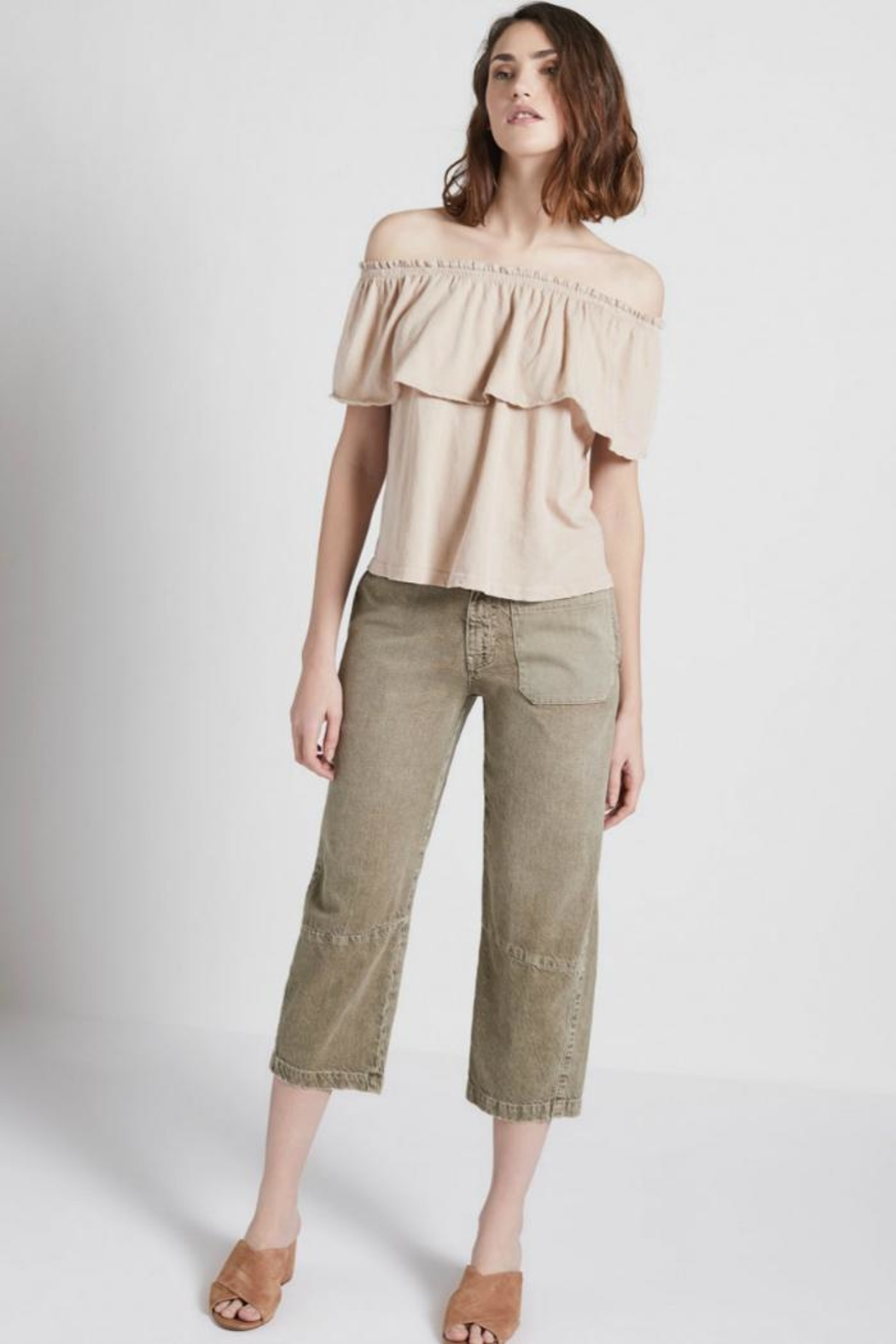 Current Elliott The Ruffle Top - Front Full Image