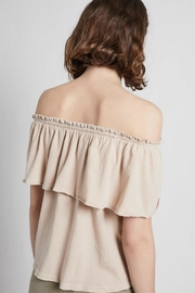 Current Elliott The Ruffle Top - Back cropped