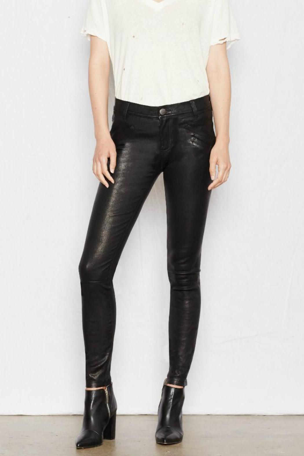 Current Elliott Welt Pocket Leather Skinnies From Canada