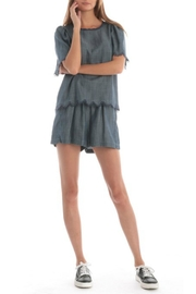 Current Air Chambray Flutter Top - Back cropped