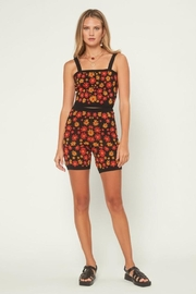 Current Air Floral Knit Shorts - Front full body