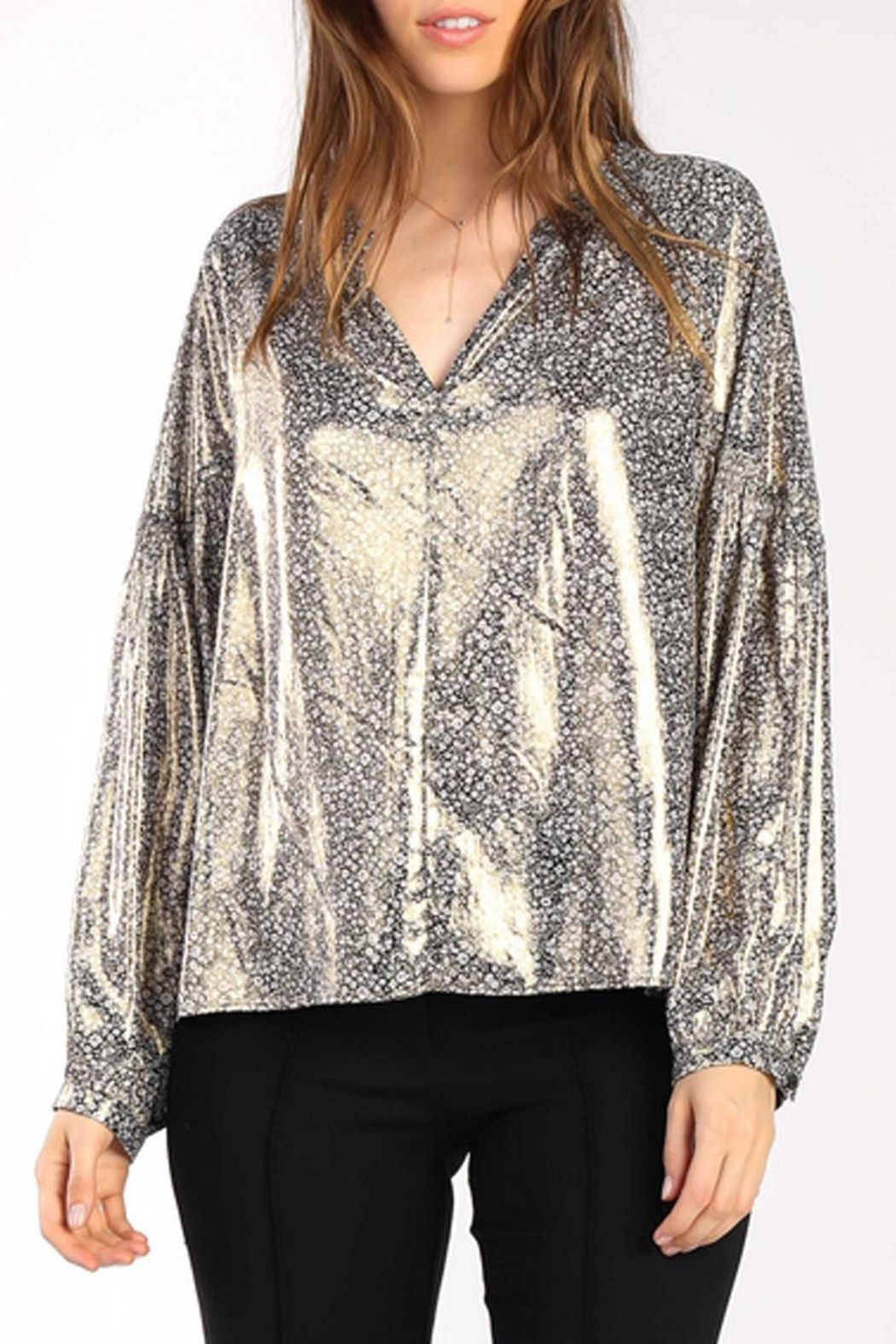 Current Air Floral Shimmer Blouse - Main Image