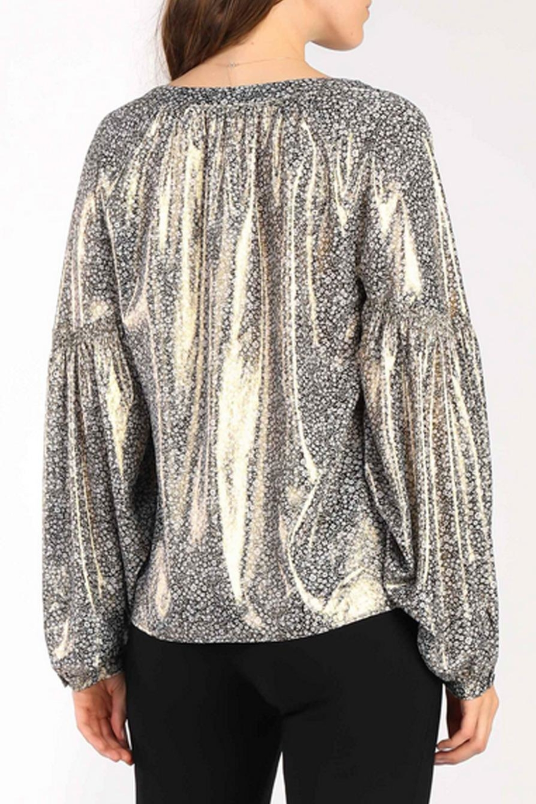 Current Air Floral Shimmer Blouse - Side Cropped Image