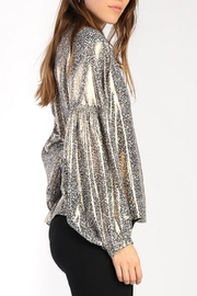 Current Air Floral Shimmer Blouse - Front full body
