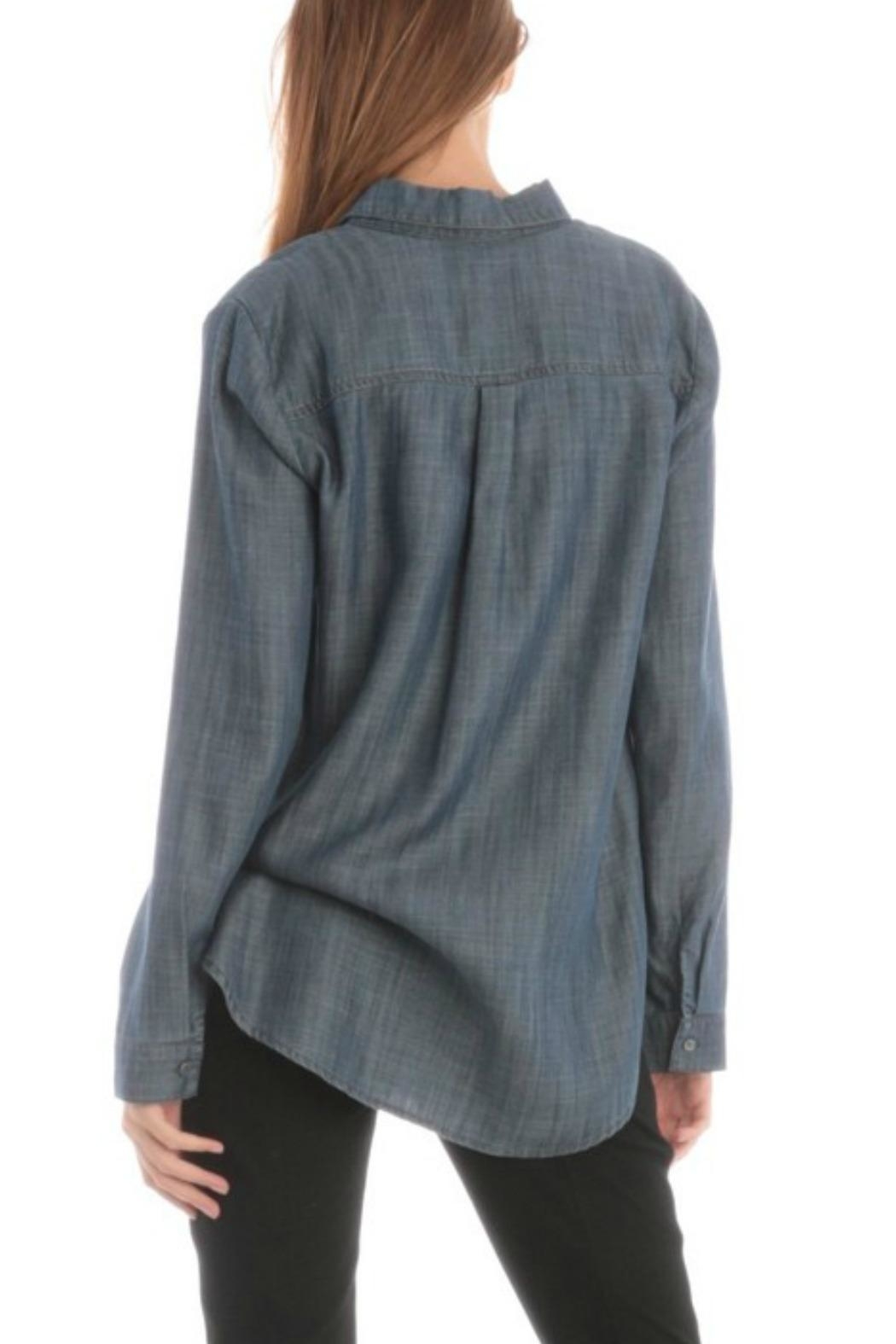 Current Air Jean Button-Down Shirt - Back Cropped Image