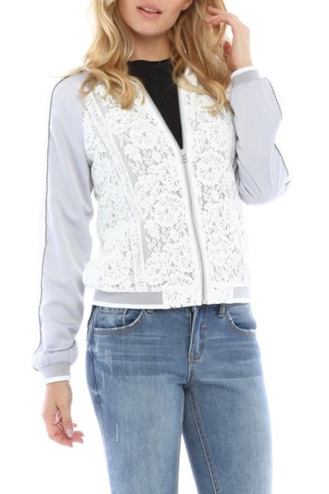 Current Air Lace Bomber Jacket - Main Image