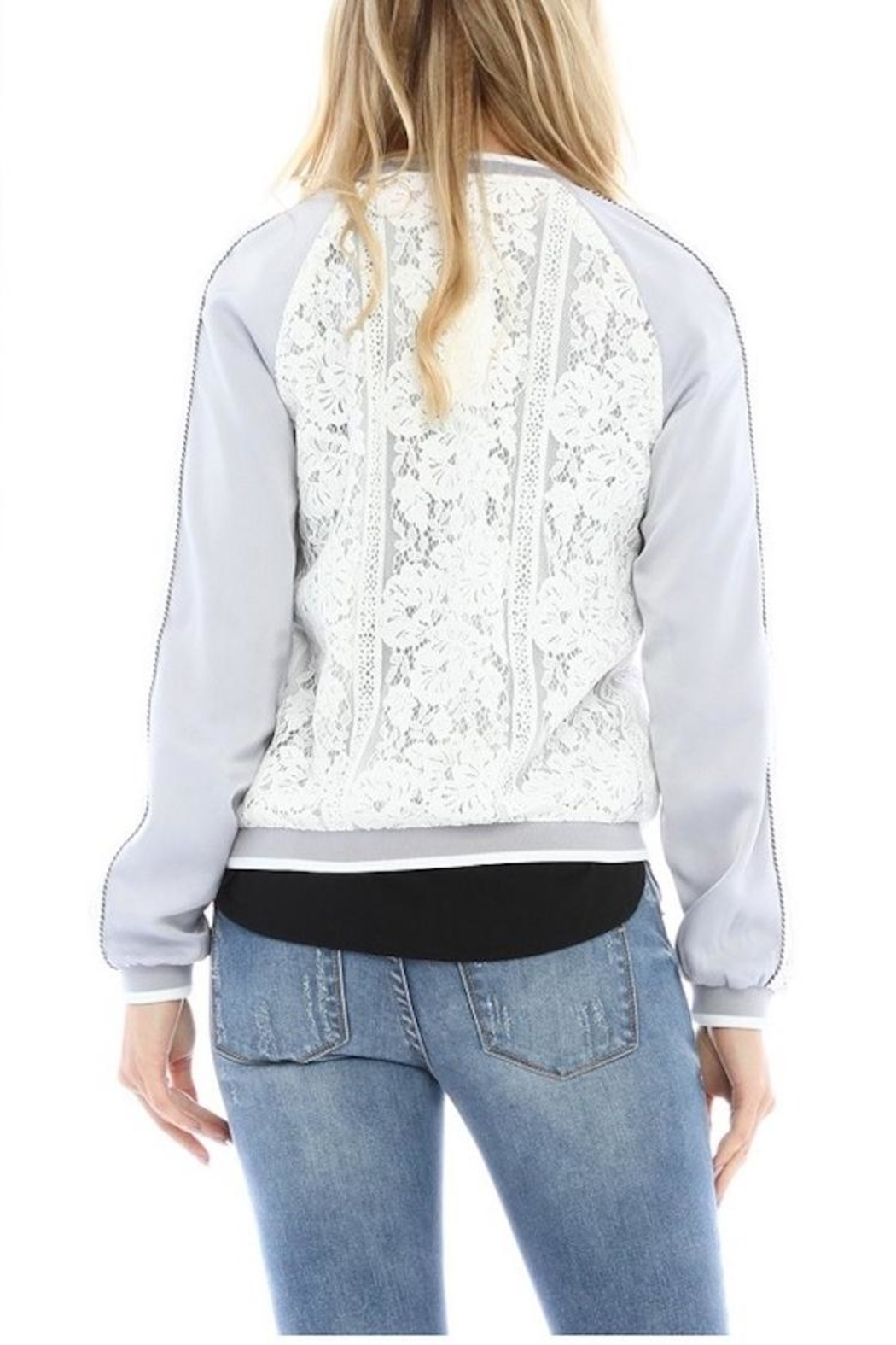 Current Air Lace Bomber Jacket - Back Cropped Image