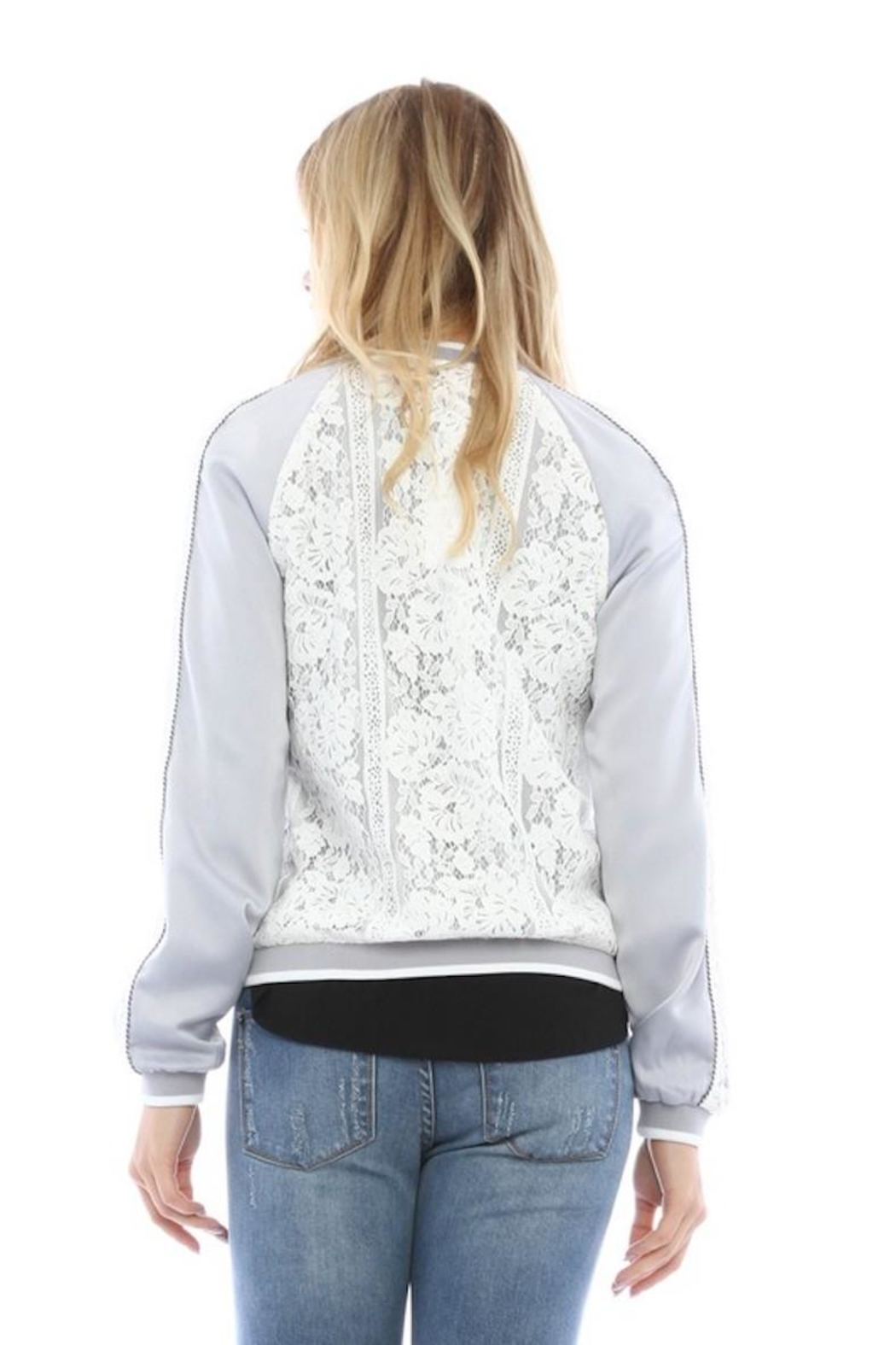 Current Air Lace Bomber Jacket - Side Cropped Image