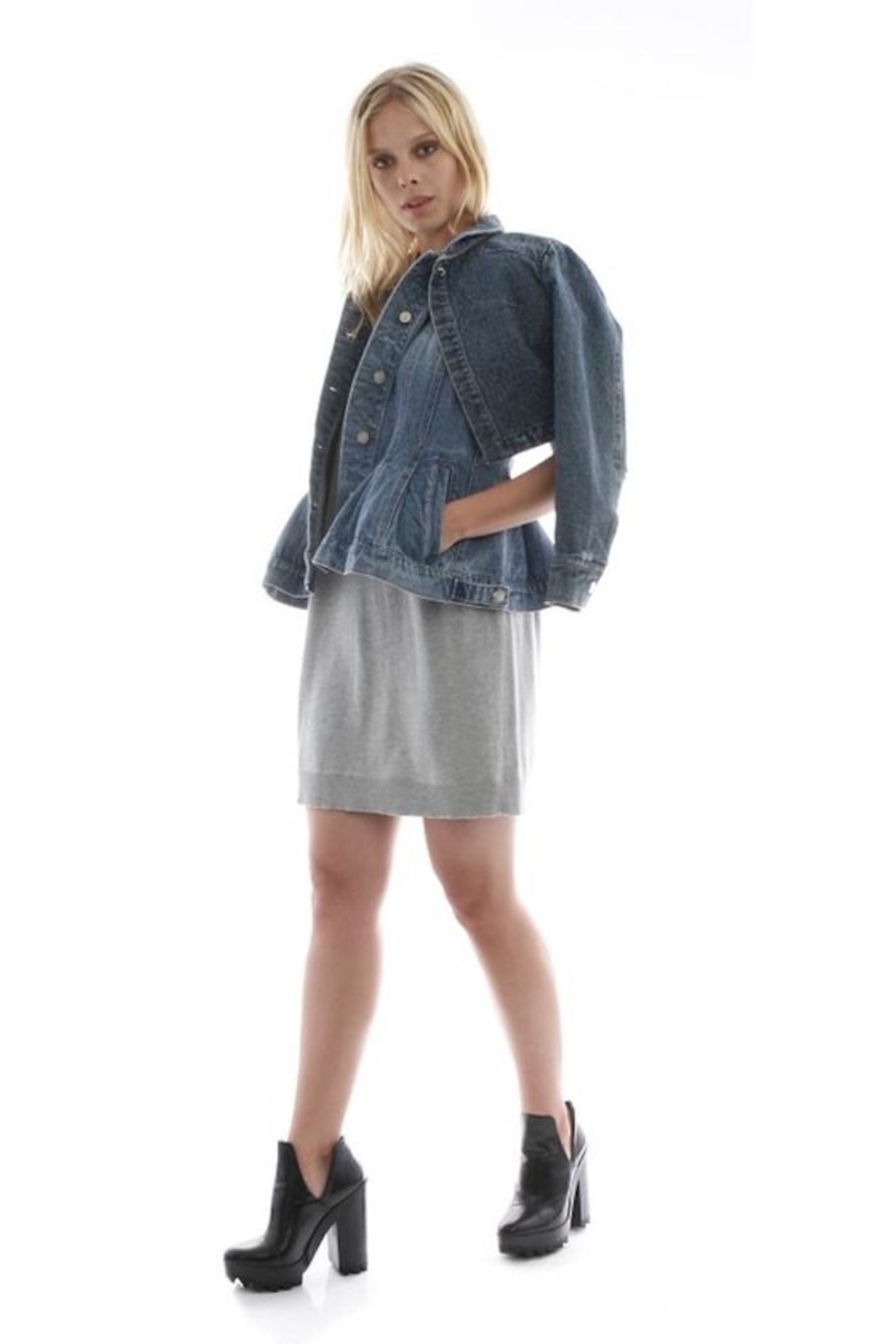 Current Air Layered Denim Jacket - Side Cropped Image