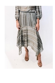 Current Air Metallic Stripe Skirt - Product Mini Image
