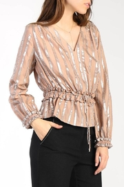 Current Air Metallic Striped Blouse - Product Mini Image