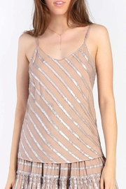 Current Air Metallic Striped Cami - Product Mini Image