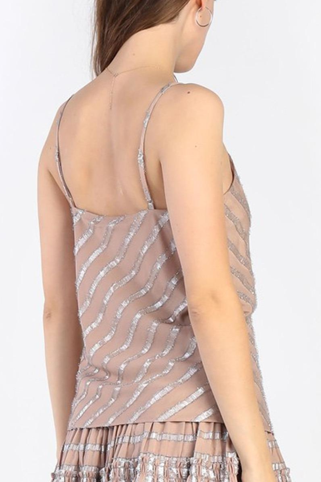 Current Air Metallic Striped Cami - Side Cropped Image