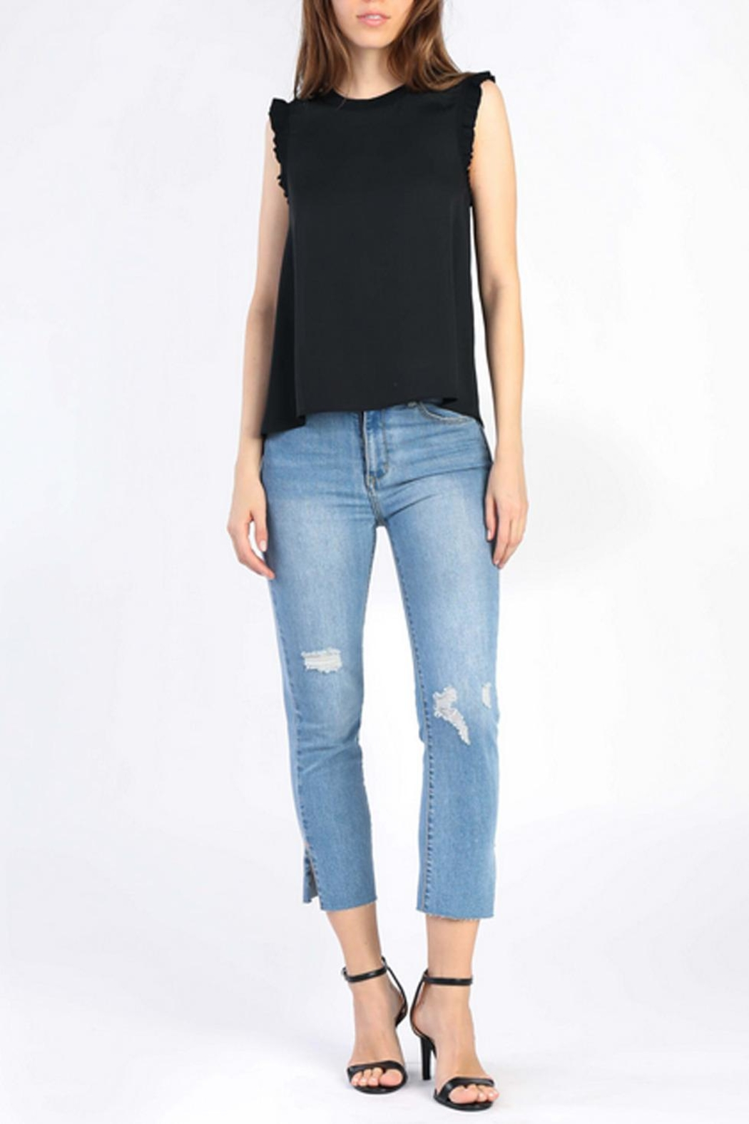 Current Air Ruffle Knit Tank - Front Cropped Image