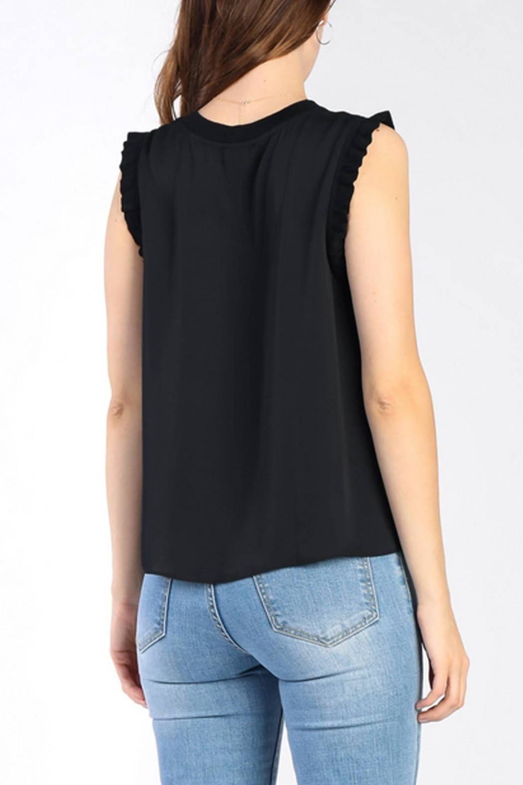 Current Air Ruffle Knit Tank - Front Full Image