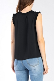 Current Air Ruffle Knit Tank - Front full body