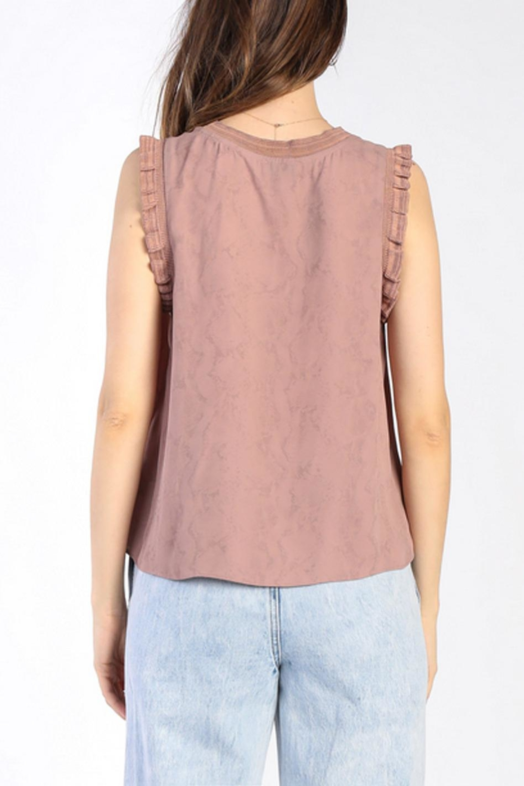 Current Air Ruffle Knit Tank - Back Cropped Image