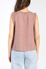 Current Air Ruffle Knit Tank - Back cropped