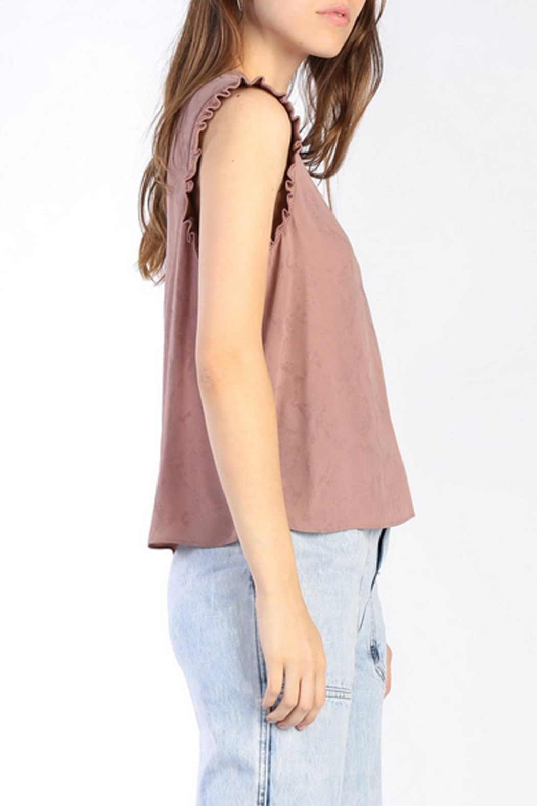 Current Air Ruffle Knit Tank - Side Cropped Image