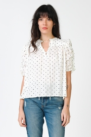 Current Air Ruffled Sleeve Top - Front cropped