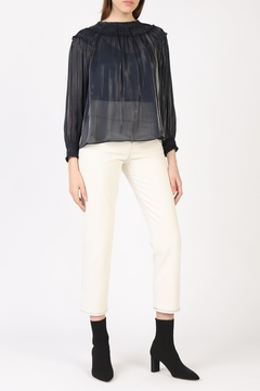 Current Air Shimmer Smocked Blouse - Product List Image
