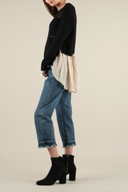 Current Air Shirt Layer Sweater - Back cropped