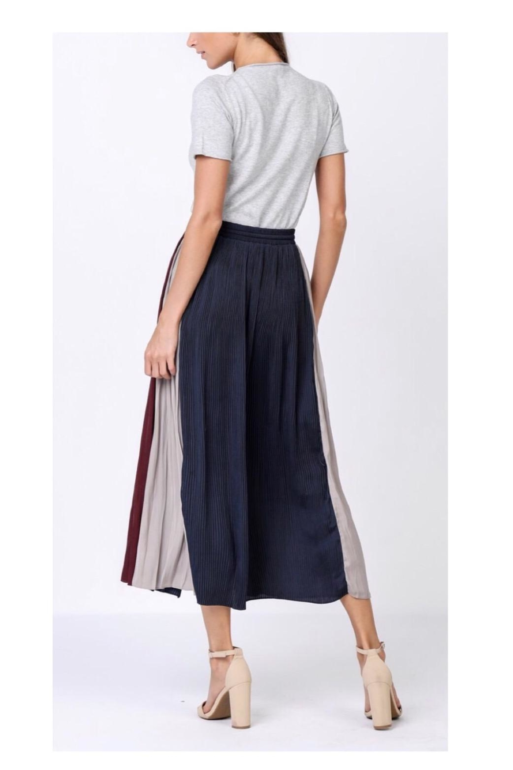 Current Air Stripe Maxi Skirt - Front Full Image