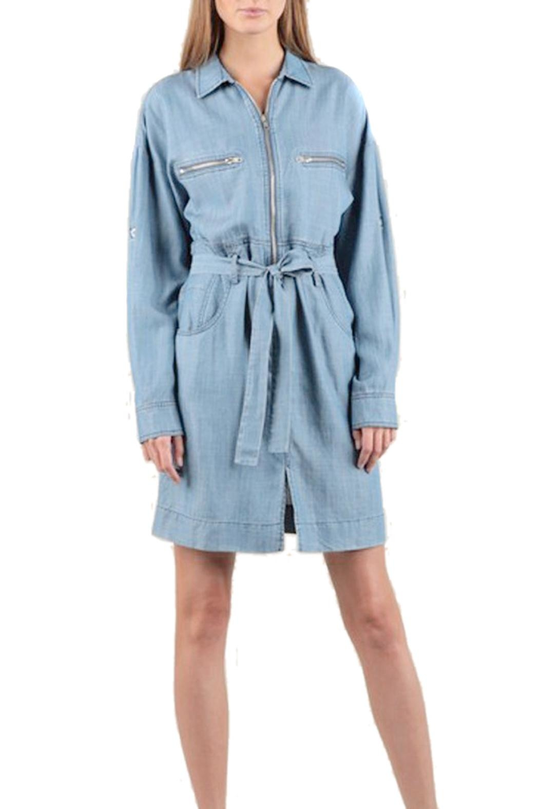 Current Air Tencel Shirt Dress - Front Cropped Image