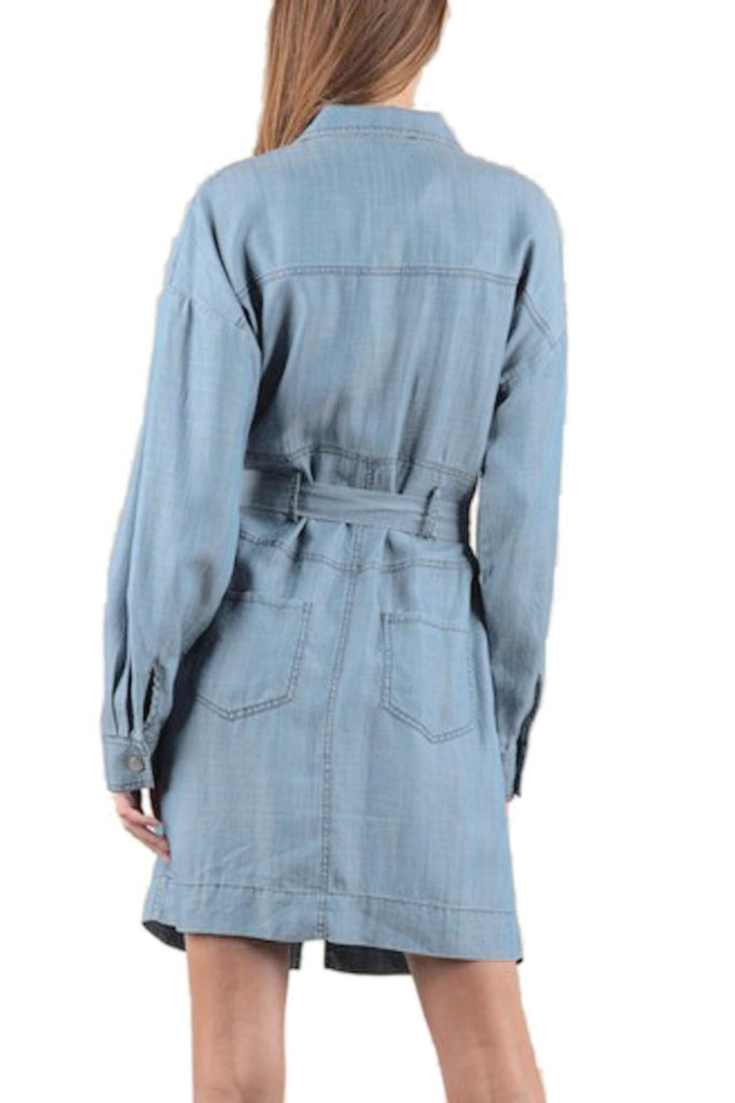 Current Air Tencel Shirt Dress - Side Cropped Image