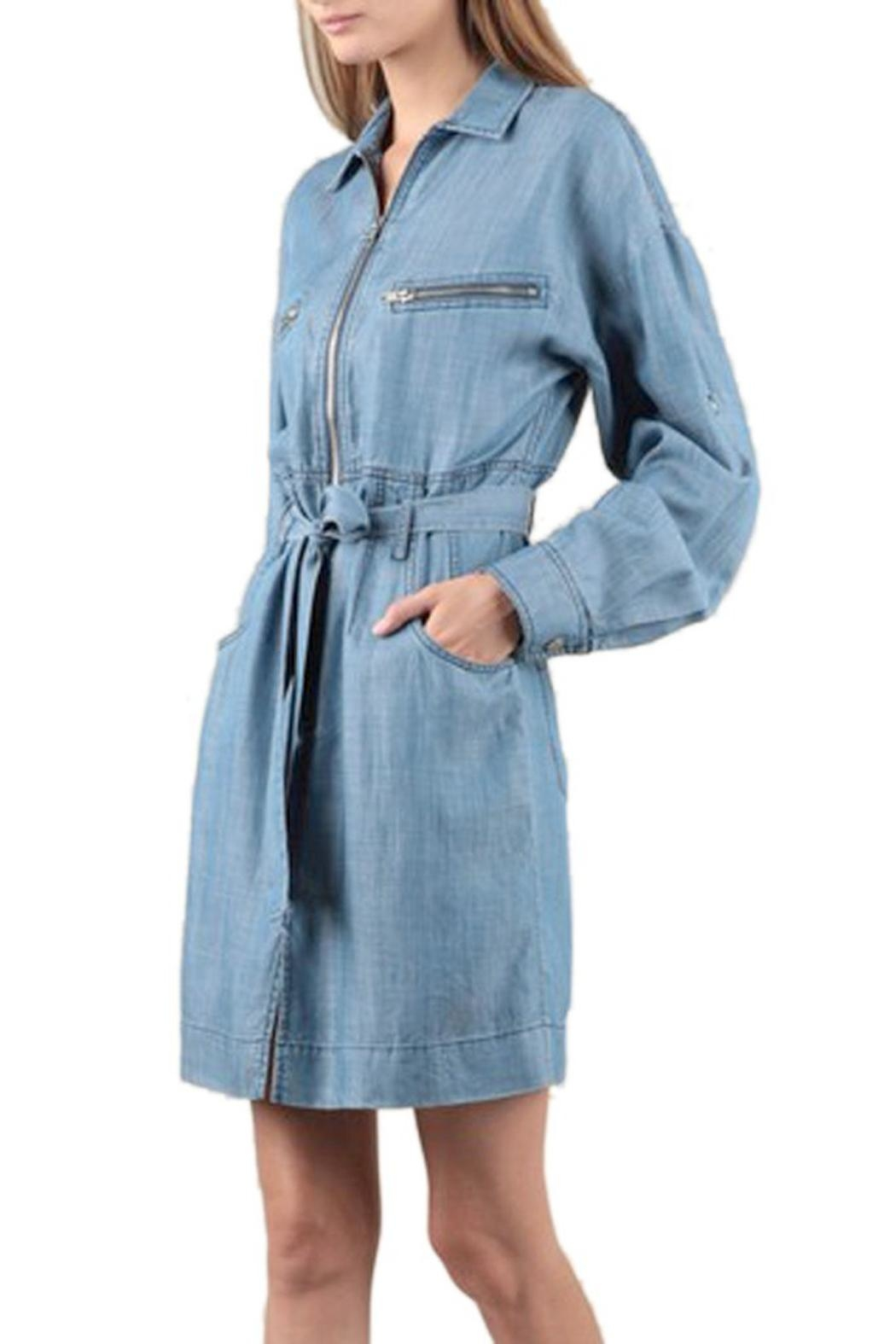 Current Air Tencel Shirt Dress - Front Full Image